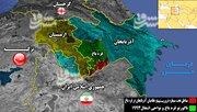 آخرین تحولات میدانی «قره باغ» یک ماه پس از شروع جنگ/ استقرار تروریستهای اعزامی ترکیه در مناطق مرزی مشترک با ایران + نقشه میدانی