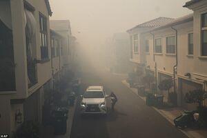 عکس/ آتش در یک قدمی منازل مسکونی کالیفرنیا