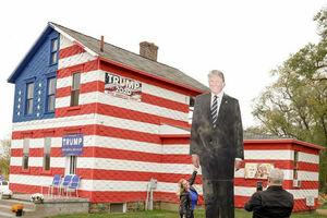 عکس/ «خانه تبلیغات ترامپ» در پنسیلوانیا