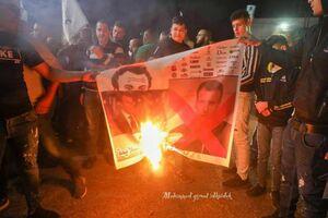 عکس/ خشم مردم فلسطین از گستاخی اخیر ماکرون