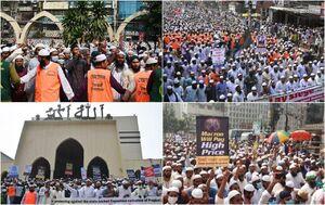 عکس/ خشم مردم بنگلادش علیه فرانسه