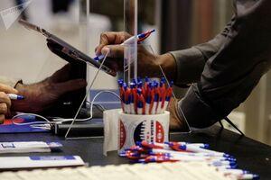 صف رای گیری پیش از موعد انتخابات آمریکا