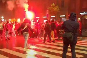 فیلم/ درگیریهای شدید بین معترضان و پلیس لندن