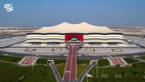 اقدام جالب در ورزشگاه البیت قطر +عکس