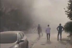 گرد و خاک ناشی از ویرانیهای زلزله ترکیه