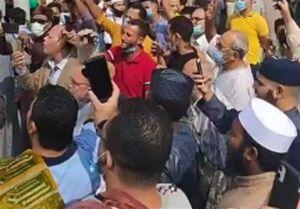 تظاهرات در دانشگاه الازهر مصر علیه اقدام موهن فرانسه