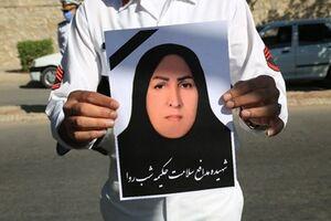 عکس/تشییع پیکر پنجمین شهید مدافع سلامت هرمزگان