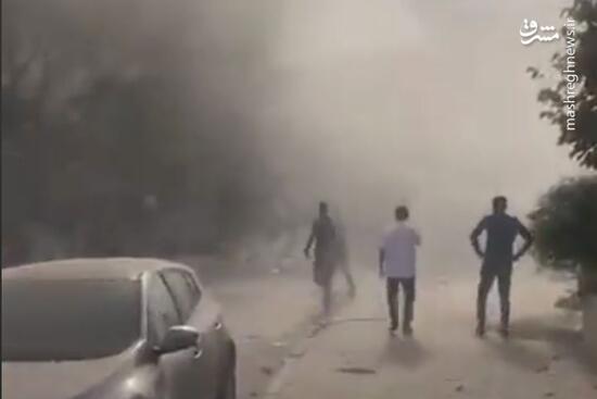فیلم/ گرد و خاک ناشی از ویرانیهای زلزله ترکیه