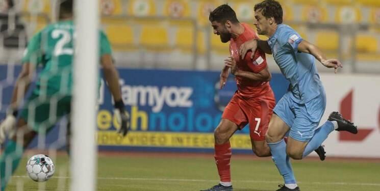 شادمانی بازیکنان العربی با حضور ترابی و محمدی پس از صعود به فینال+عکس