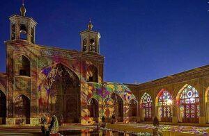 عکس/ قابی زیبا از مسجد نصیرالملک در شب