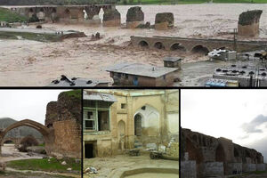 زخم سیل ۹۸ بر تن بناهای هزارساله