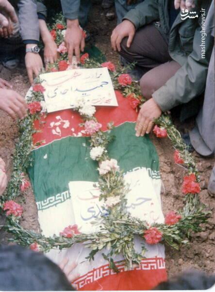 مزار شهید حمید احدی، ساعاتی پس از تدفین