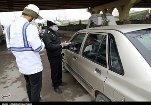 جریمه ۹ هزار راننده به دلیل عدم استفاده از ماسک