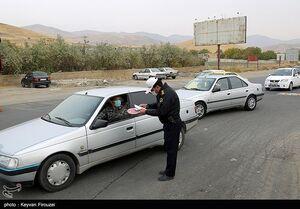 عکس/ ممنوعیت ورود و خروج خودروهای بومی و غیر بومی