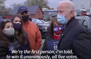 فیلم/ بایدن: میخواهم همین الان اعلام پیروزی کنم
