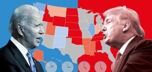 ببینید | ترامپ در الکترالها پیش افتاد: ۸ رای برای ترامپ ، ۳ رای بایدن