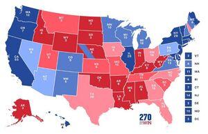 پیروزی ترامپ در چهار ایالت با ۳۳ رای الکترال