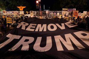 تظاهرات مخالفان ترامپ نزدیک کاخ سفید +فیلم