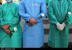 عکس/ تشییع شهید مدافع سلامت تبریز