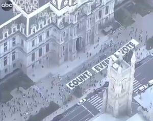 فیلم/تصاویر هوایی از تجمعهای خیابانی در فیلادلفیا