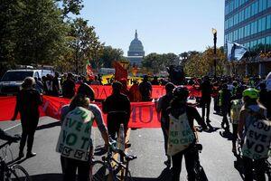 فیلم/ اعتراضات گسترده پساانتخاباتی در آمریکا
