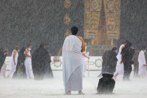 عکس/ بارش رحمت الهی در مکه