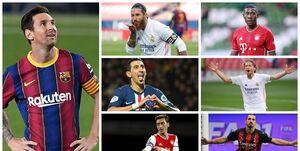 معرفی 21 ستاره فوتبال در آستانه پایان قرارداد/ مسی و راموس صدرنشین هستند+عکس