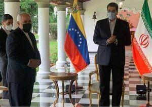 فیلم/ خوش و بش کرونایی مادورو با ظریف