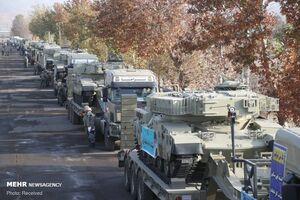 عکس/ اعزام تیپ ۱۱۶ زرهی قزوین به مناطق مرزی