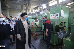 عکس/ بازدید آلهاشم از تنها کارخانه بلبرینگسازی کشور