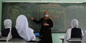 یک معلم فلسطینی در نوار غزه، جایزه جهانی معلم را کسب کرد