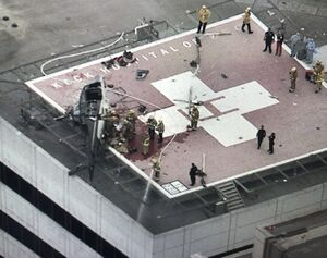 سقوط بالگرد در لس آنجلس +عکس