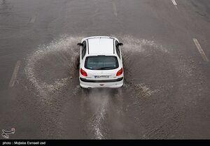 بارش برف و باران در محورهای ۷ استان