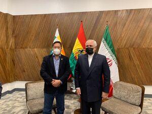 عکس/ دیدار ظریف با رییس جمهور بولیوی