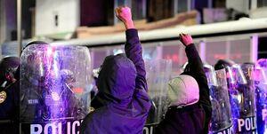 پلیس مینیاپولیس ۶۰۰ معترض انتخاباتی را بازداشت کرد
