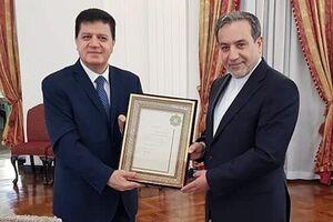 خداحافظی سفیر سوریه در تهران با عراقچی