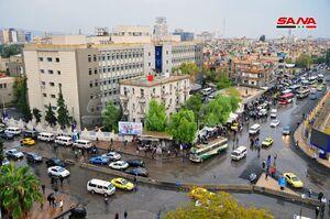 بارش باران پاییزی در دمشق