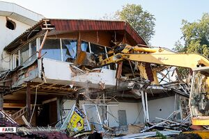 عکس/ تخریب ویلای اعیانی ساحلی