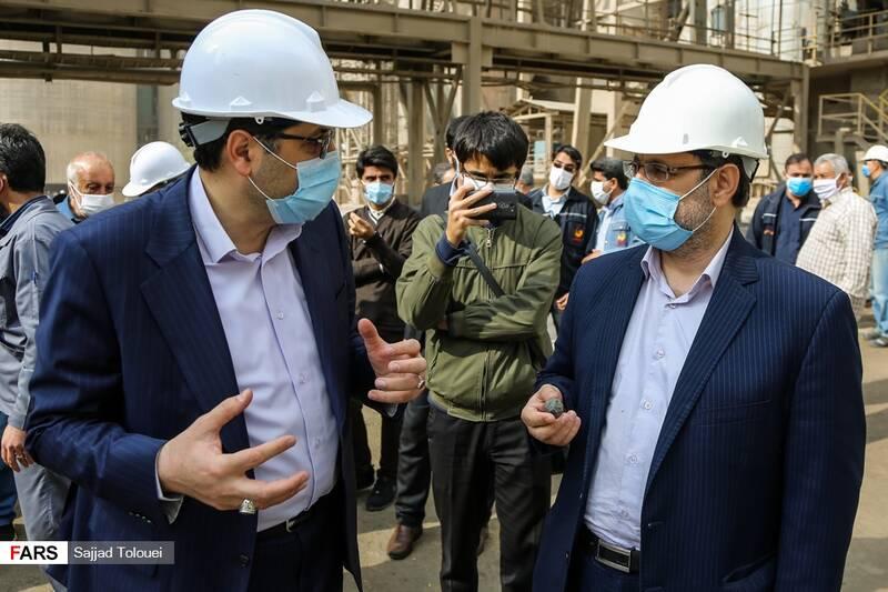 بازدید نمایندگان تهران از کارخانه سیمان ری سید نظام الدین موسوی نماینده تهران