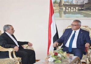 دیدار سفیر جدید ایران با نخستوزیر دولت نجات ملی یمن