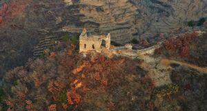 عکس/ مناظر پاییزی دیوار چین