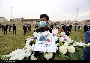 عکس/ مراسم وداع با پیکر محمود یاوری در اصفهان