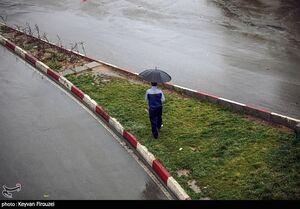 بارش باران پاییزی در سنندج