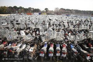 عکس/ قبرستان موتور سیکلتها