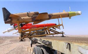 فیلمی از تست موتور، پرتاب و هدفگیری پهپاد کرار