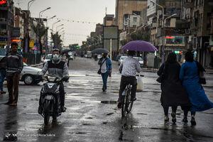 عکس/ آبگرفتگی معابر اهواز پس از بارش باران