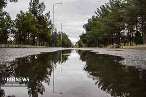 عکس/ اولین بارش پاییزی در سمنان