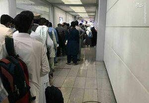 عکس/ صف تست کرونا مسافران در فرودگاه