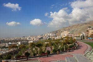 آسمان تهران، پس از باران