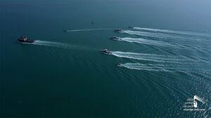 عکس/ موفقیت نیروهای یمنی در بازسازی قایقهای گارد ساحلی